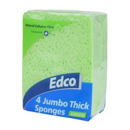 Edco Jumbo Sponge 4 Pack - Green