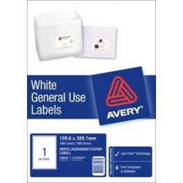 A4 Labels 1 per page 100 Pack