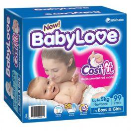 BabyLove Nappies N/born Jumbo 99's