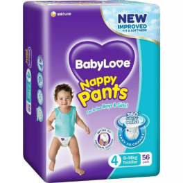 BabyLove Nappy Pants Toddler 2x56's