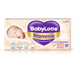 Babylove Premmie Nappies 30 Pack