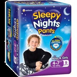 Babylove Sleepy Nights 4-7yo 4x15's