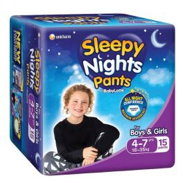 Babylove Sleepy Nights 4-7yo 4x15's **Available in NSW ONLY**
