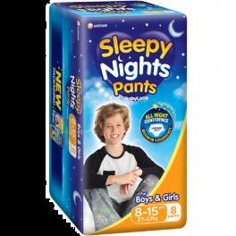 Babylove Sleepy Nights 8-15yo 4x8's