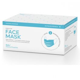 AUS Made Disposable Surgical Face Mask 50 Pack - Level 2 Blue