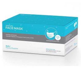 Australian Made Face Mask - Level 1 - Single Use - Blue