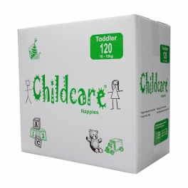 Childcare Nappies Toddler 120's