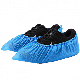 Chlorinated Polyethylene Shoe Covers 100's - Waterproof