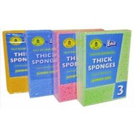 Edco Jumbo Sponge 4 Pack - Blue