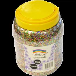 Glitter 1KG Jar - Multi-coloured