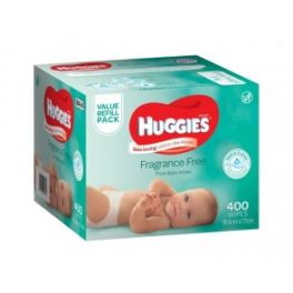 Huggies Wipes Unscented 1x400's