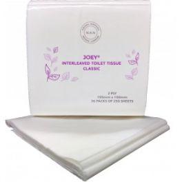 Joey Classic Interleaved Toilet Tissue 2ply 36x250's
