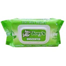 Joey Premium Wet Wipes Unscented Alc Free with Lid 12x100's