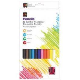 Jumbo Tri Colour Pencils 12 Pack