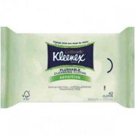 Kleenex Flushable Unscented Wipes 10x42's