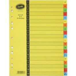Dividers A to Z Tab