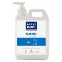 Maxi Block SPF50+ Dry Touch Sunscreen 1L Pump