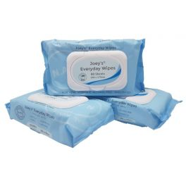 Joey Everyday Wet Wipes Unscented Alc Free with Lid 16x80's