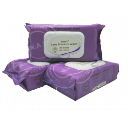 Joey Extra Premium Wet Wipes Unscented Alc Free with Lid 12x80's