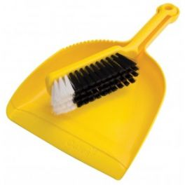 Oates Dustpan & Bannister Set - Yellow