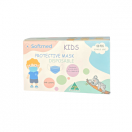 AUS Made Disposable Surgical Face Mask 50 Pack - Kids Blue