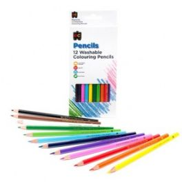 Washable Colouring Pencils 12 Pack